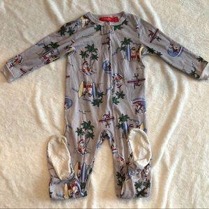 Tropical Santa footie pajamas